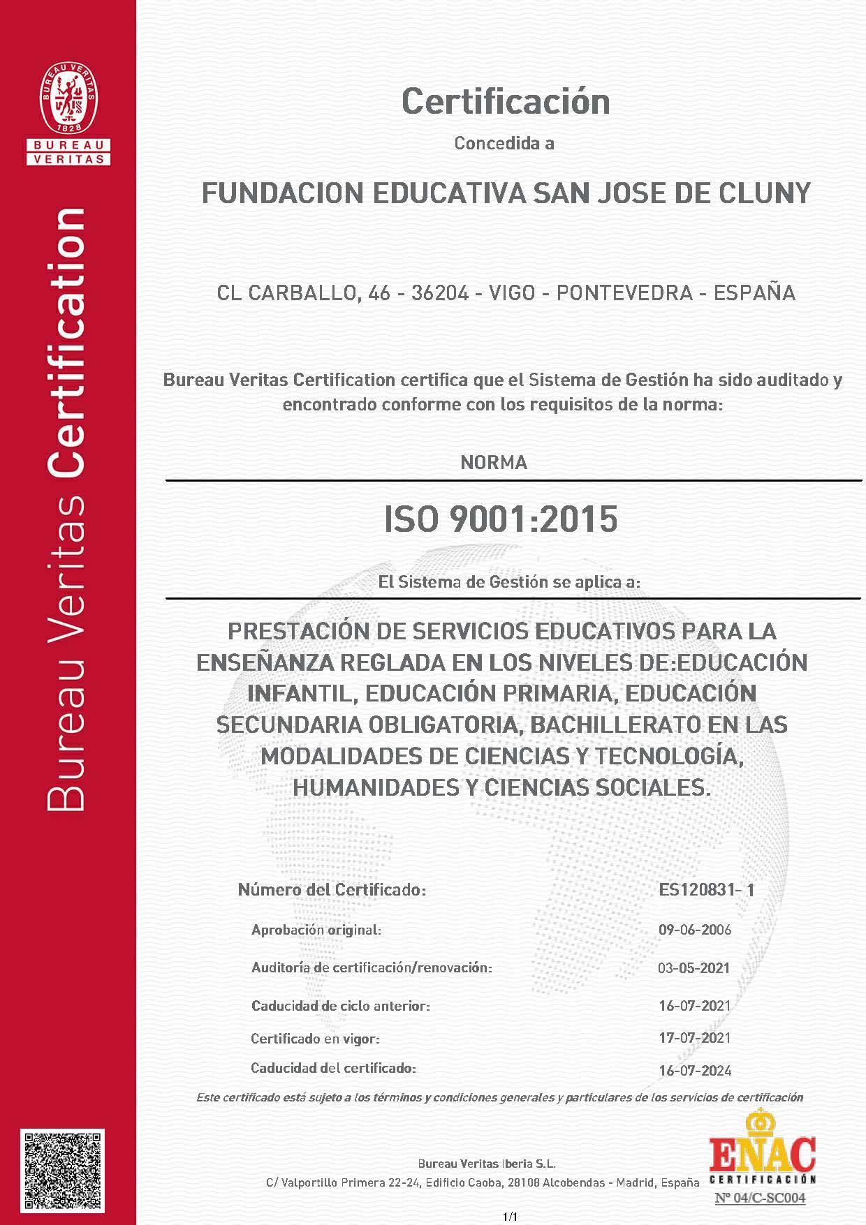 Norma ISO hasta 2024-07-16